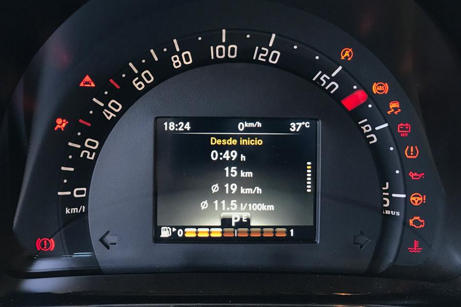 Cuadro de instrumentación del Smart Fortwo BRABUS Cabrio.