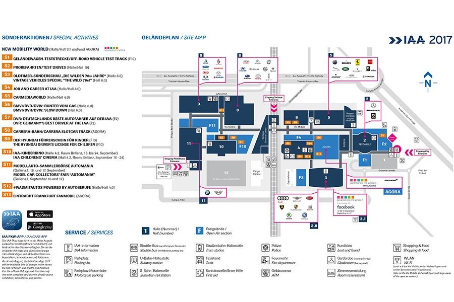 Plano del Salón de Frankfurt 2017