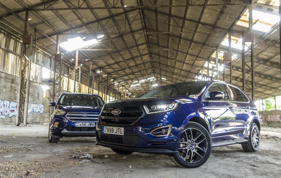 El Ford Edge posee una imagen más robusta que su hermano de gama el Kuga.