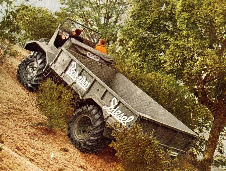 Un camión Barreiros en acción.