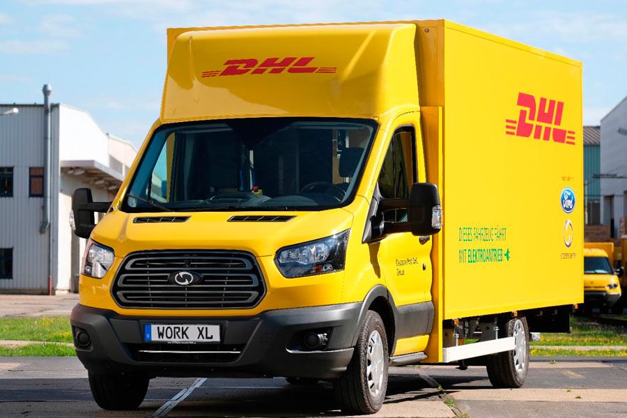 DHL y Ford presentan su primera furgoneta de reparto eléctrica