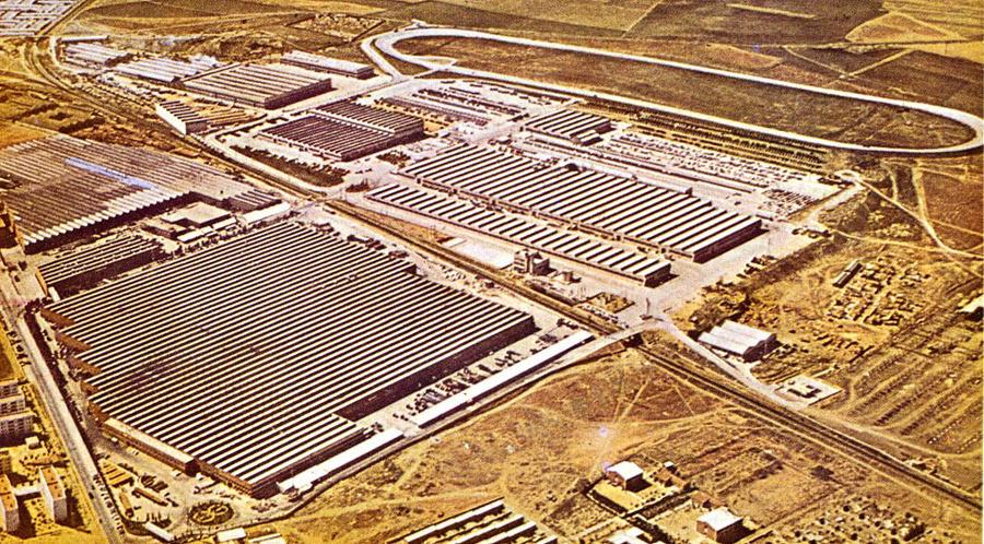 Vista aerea de las instalaciones de Barreiros Diésel.