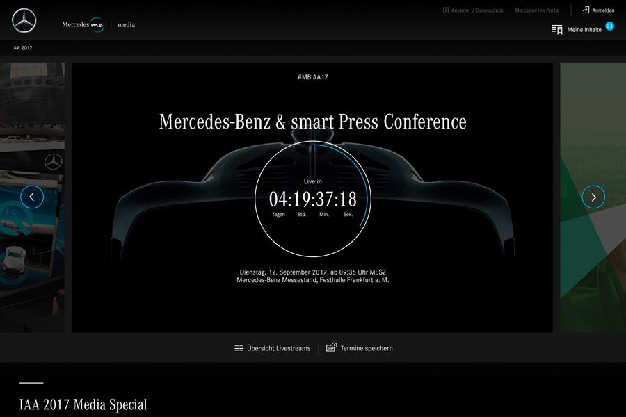 Mercedes retransmitirá todos sus eventos en directo