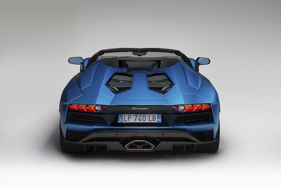 Trasera Lamborghini Aventador S Roadster.