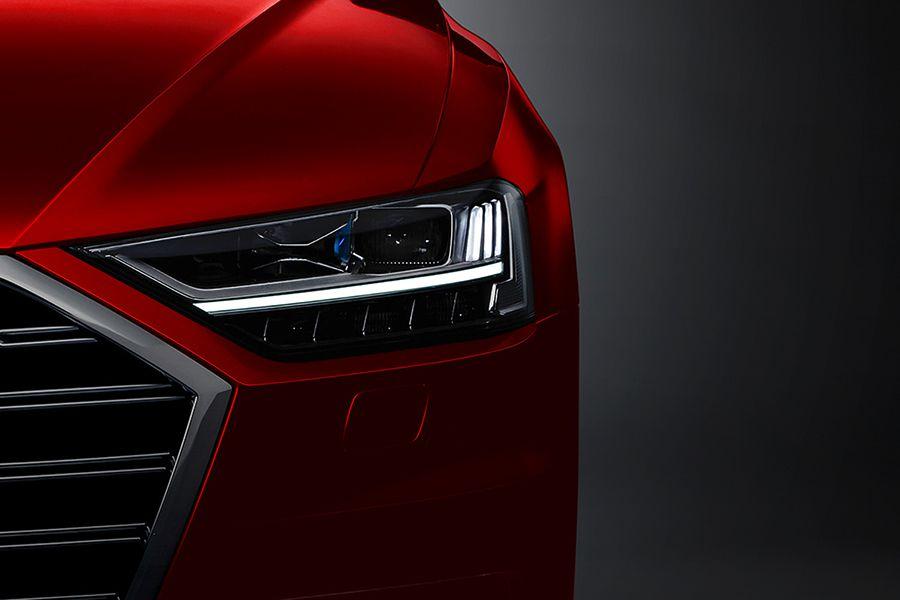 Así es la imponente iluminación led y láser del nuevo Audi A8 2018