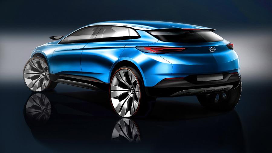 Boceto Opel Grandland X.