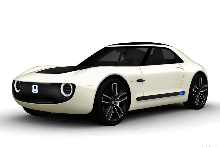 El Honda Sports EV Concept tiene un diseño muy atractivo de inspiración clásica.