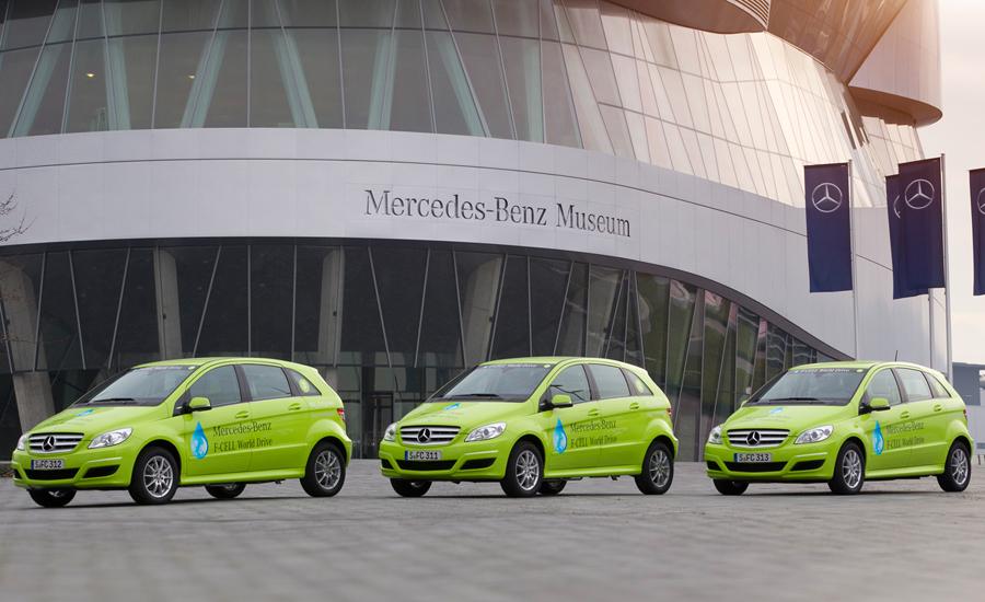 Los tres Mercedes-Benz Clase B que dieron la vuelta al mundo.