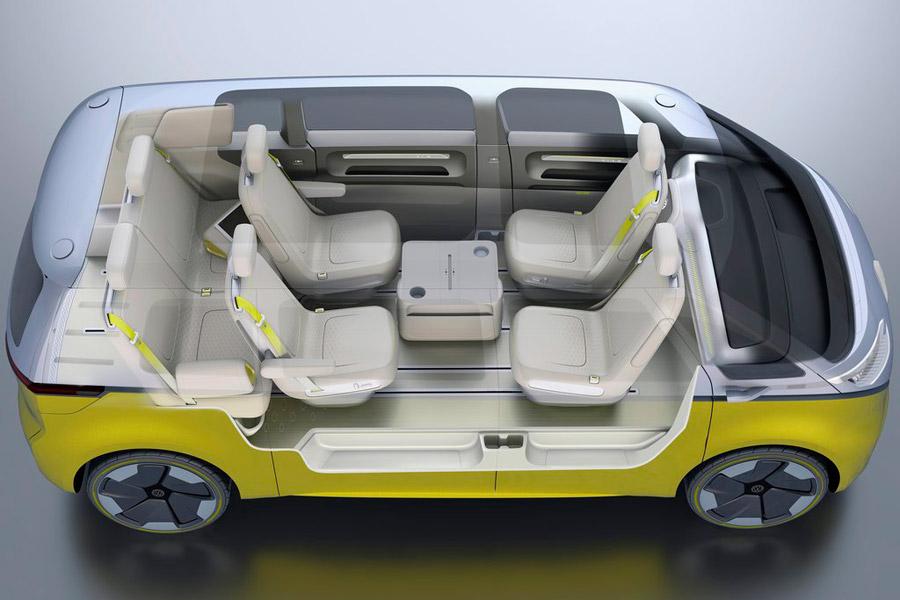 El VW ID Buzz Concept se ha diseñado con asientos giratorios para cuando esté activado el piloto automático.