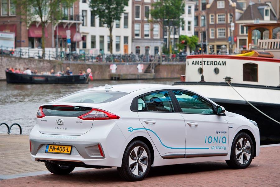 Hyundai Ioniq Electric carsharing Ámsterdam.