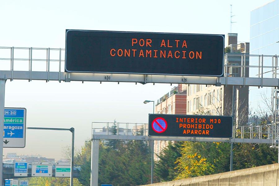 Balance positivo del plan anticontaminación en Madrid