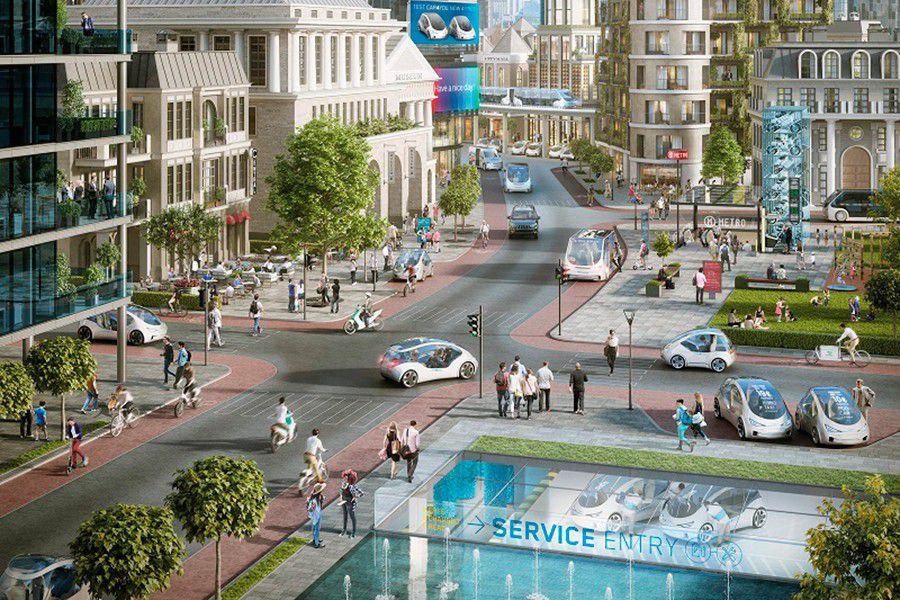 Los coches conectados que interactúen con las ciudades 'inteligentes' son el futuro.