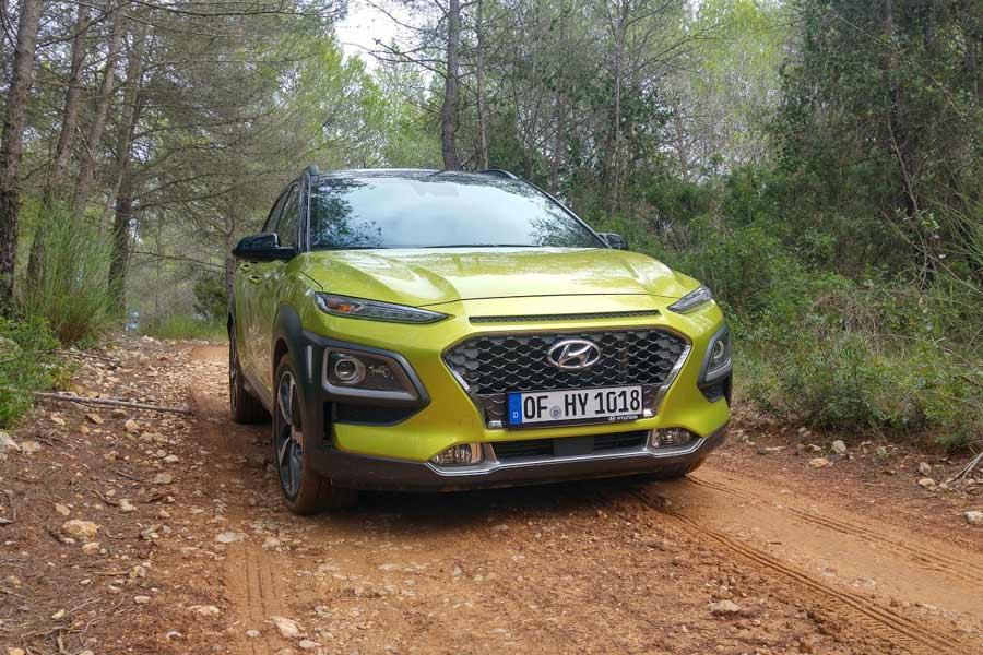 El Hyundai Kona más potente está asociado a un sistema de tracción 4x4.