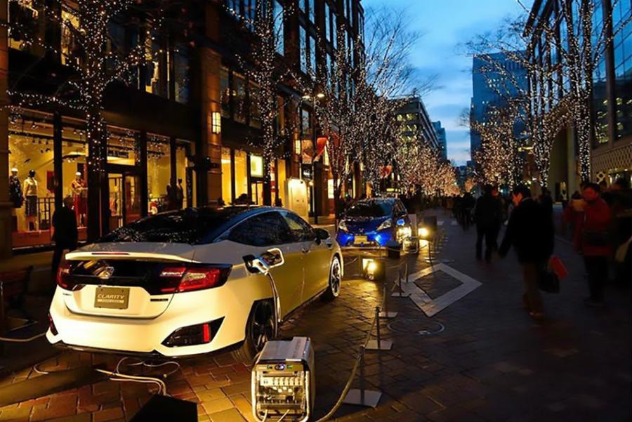 El Honda Lib-AID E500 es un desarrollo basado en el inversor creado para compartir la energía de otros coches eléctricos de la marca nipona.