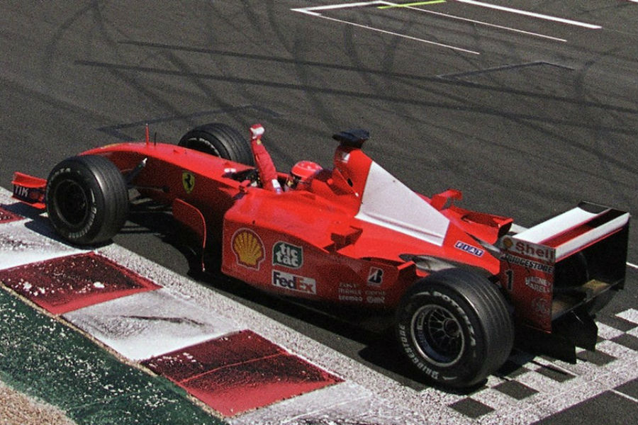 Un Ferrari de Fórmula 1 en una subasta de arte