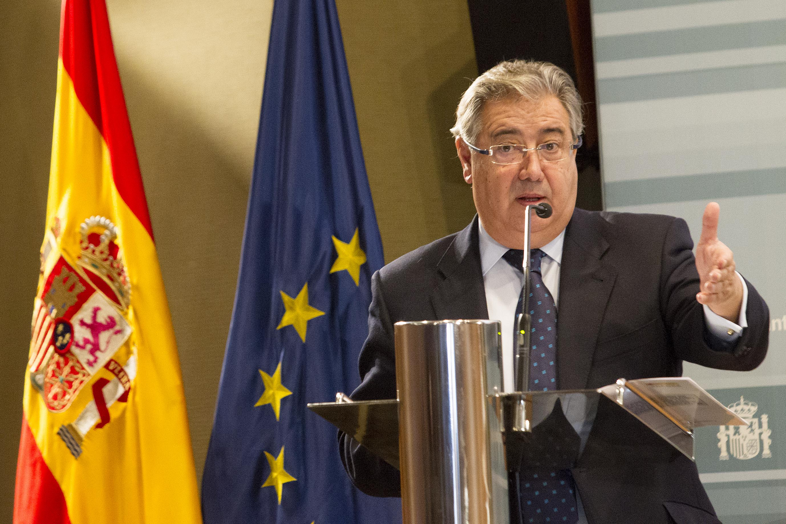 El ministro del Interior, Juan Ignacio Zoido, durante la presentación de la nueva campaña.