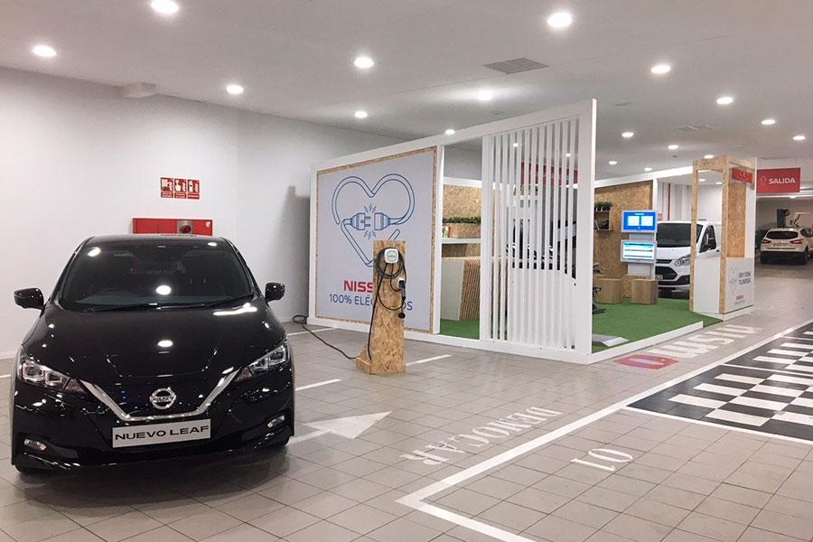 Exposición Nissan Leaf.