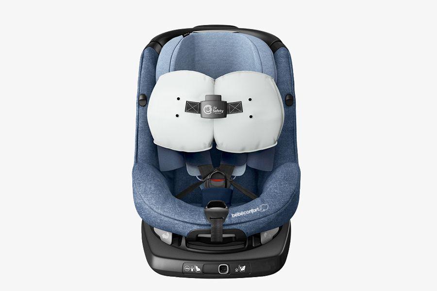 Los airbags de esta silla reducen las fuerzas que pueden hacer daño a los bebés.
