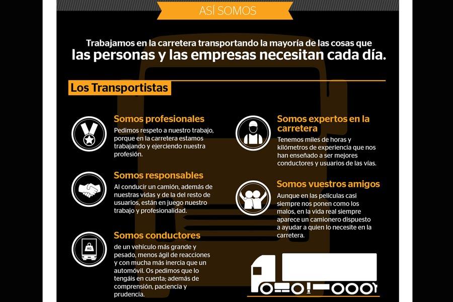 """""""Entendamos a los transportistas"""": 10 infografías para la convivencia en carretera"""