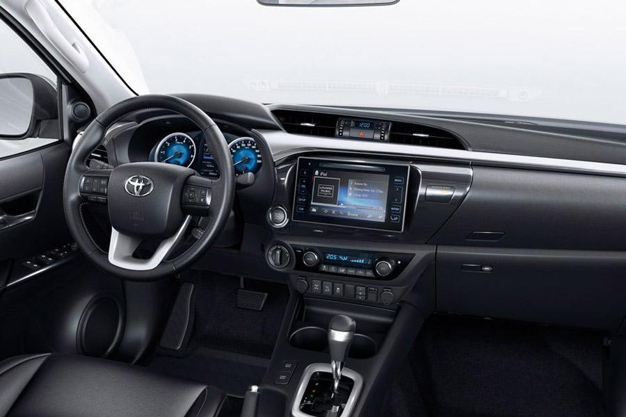 La sensación de calidad percibida ha aumentado en el Toyota Hilux VXL 2018.