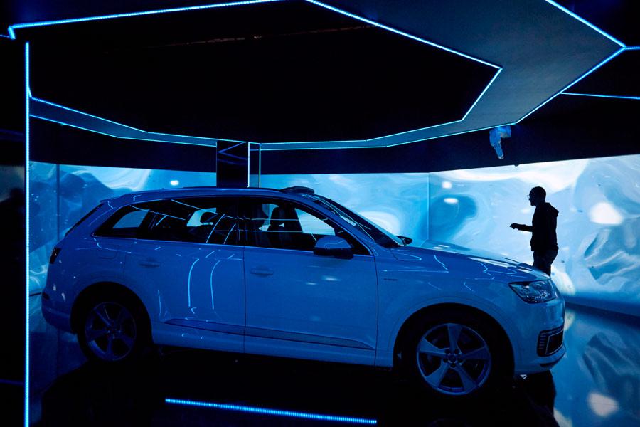 Audi e-tron room.