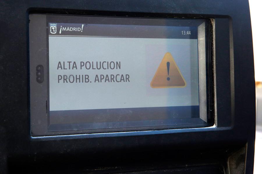 Con el Escenario 2 del Protocolo Anticontaminación, las máquinas de las zonas SER no expenderán tickets.