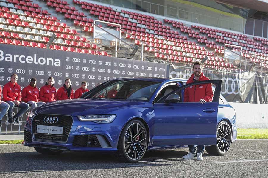 Entrega de coches Audi a los jugadores del FC Barcelona. Temporada 2017-2018