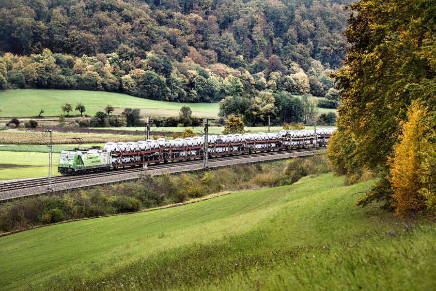 Transporte ferroviario de Audi libre de emisiones.