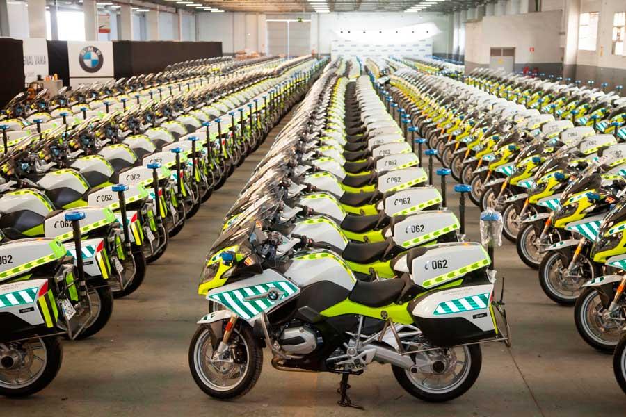 Nuevas motos BMW de la Agrupación de Tráfico de la Guardia Civil.