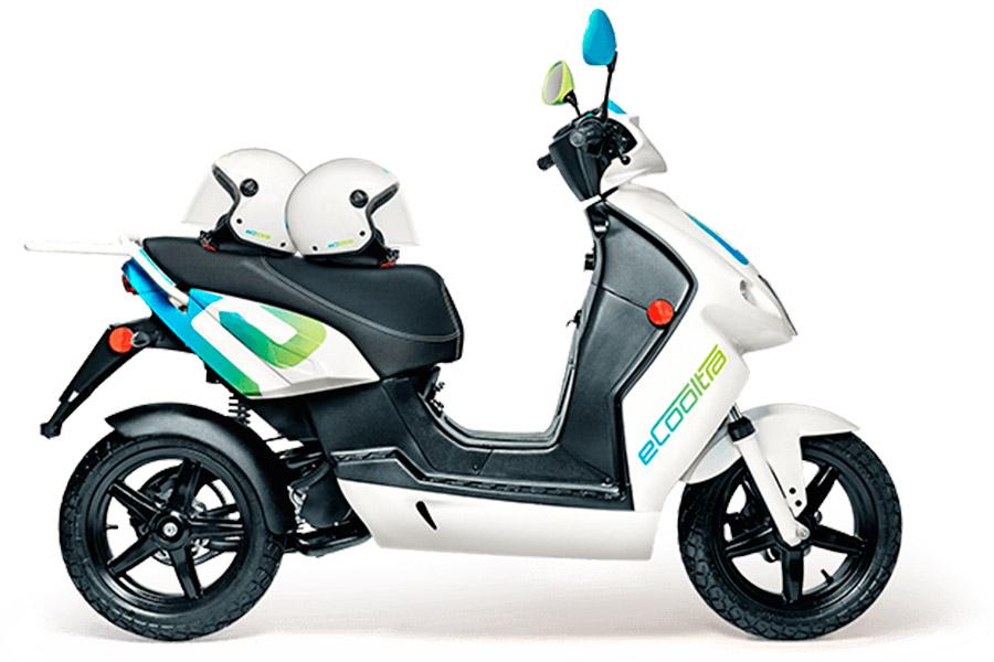 eCooltra. Moto de 49 cc. Totalmente eléctrica.