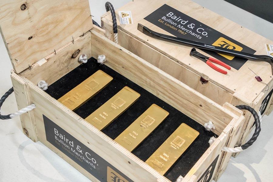 En total había casi 11,5 millones de euros en lingotes de oro.