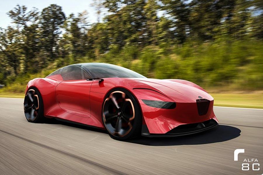 Así podría ser la segunda generación del Alfa Romeo 8C