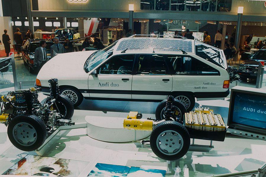 El Audi 100 duo se anticipó a los híbridos actuales.