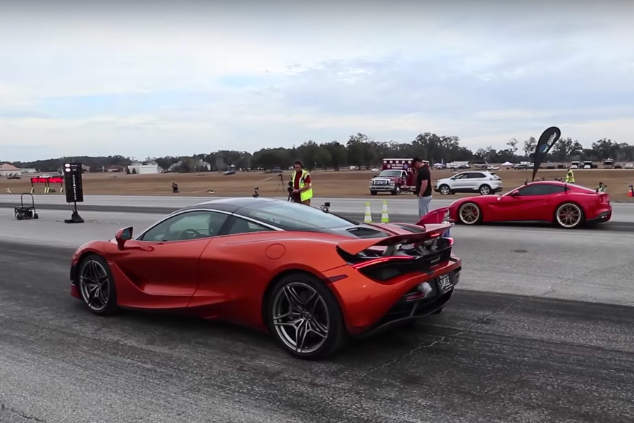 Ferrari F12 o McLaren 720S, ¿cuál es más salvaje en media milla?