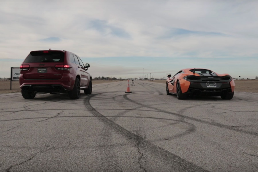 Ver para creer: Jeep Grand Cherokee vs. McLaren 570S