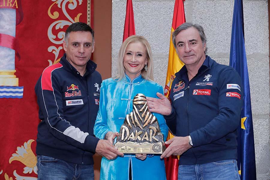 Homenaje a Carlos Sainz y Lucas Cruz en Madrid