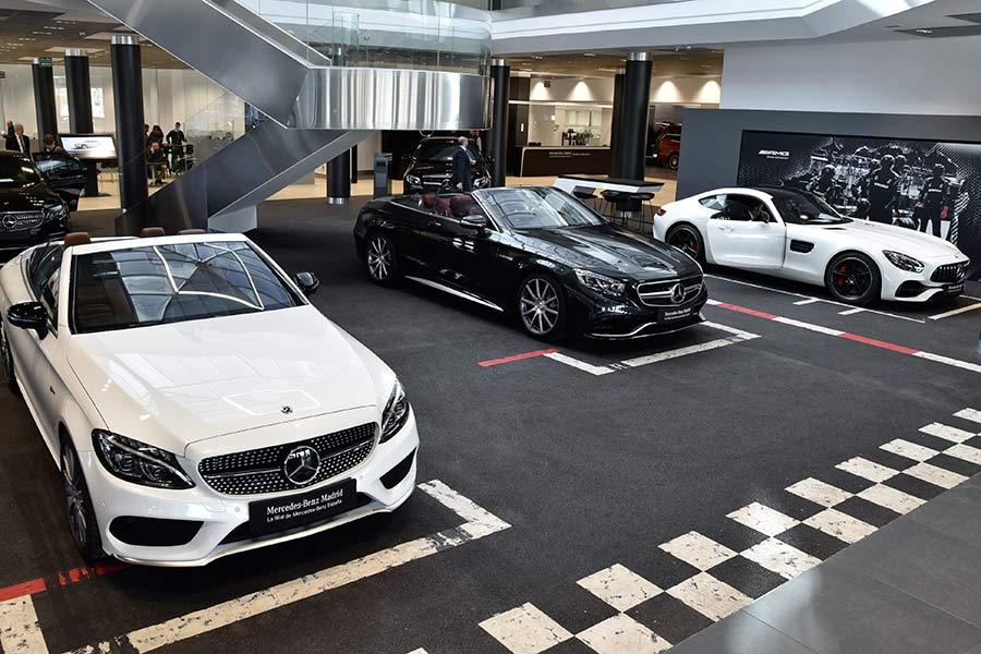 300 metros cuadrados destinados a la gama de modelos Mercedes AMG.