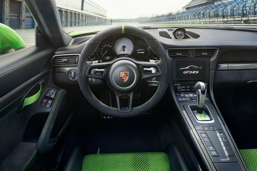 Porsche 911 GT3 RS interior.