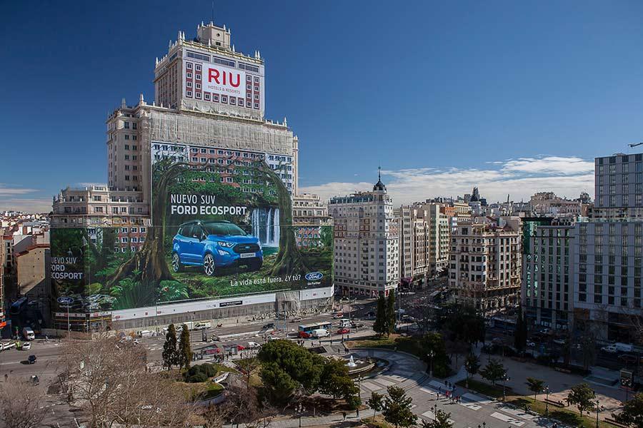 La valla publicitaria más grande del mundo, en Madrid
