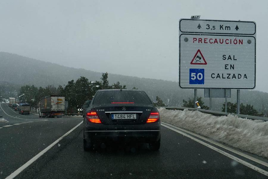 Varias carreteras en alerta por las nuevas nevadas