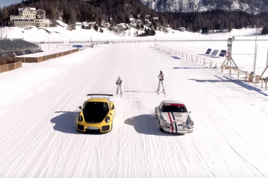El Porsche 911 GT2 RS se reúne con su abuelo de rallies