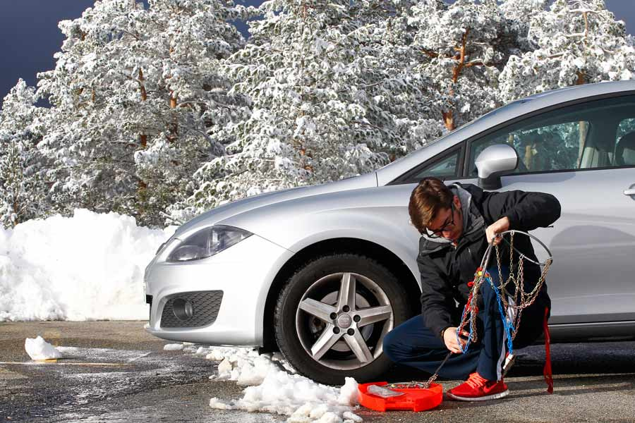 Cadenas para la nieve: cómo colocarlas