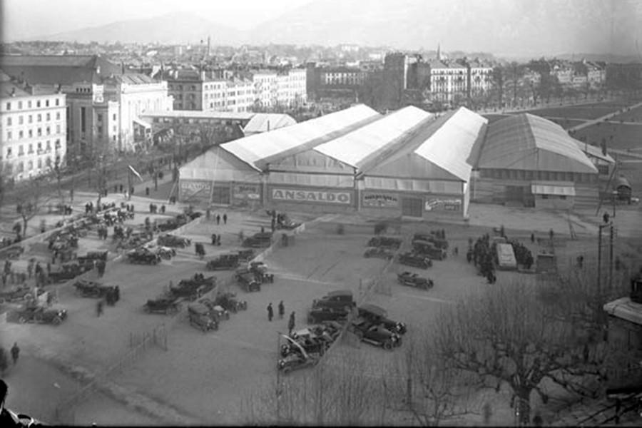 Las primeras fotografías del Salón de Ginebra no llegarían hasta 1924.