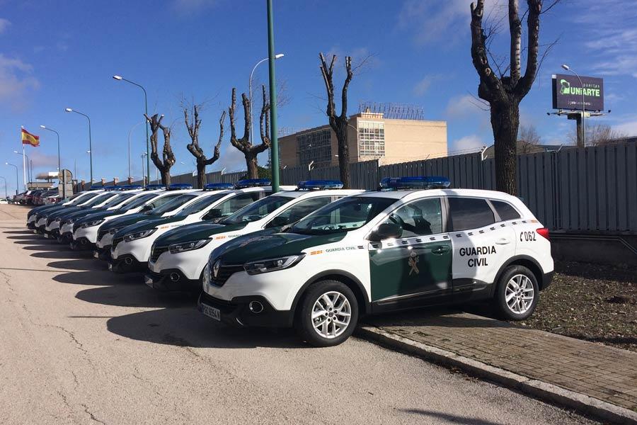 La Guardia Civil estrena 180 unidades del Renault Kadjar