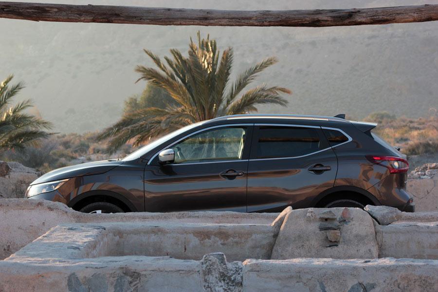 Detalles del exterior del Nissan Qashqai.
