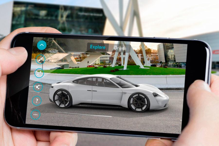 Mission E AR, la aplicación de realidad aumentada de Porsche