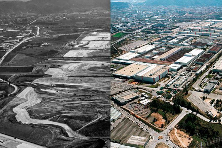 La actual fábrica de Martorell ocupa un espacio equivalente a 400 campos de fútbol.