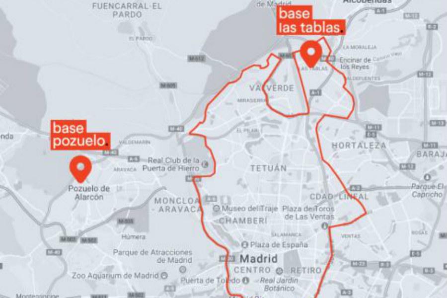 Además de la zona M-30, habrá bases en Pozuelo, Las Tablas y Villaverde