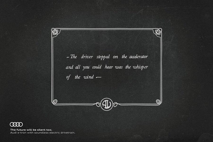 Campaña publicitaria cine mudo Audi.