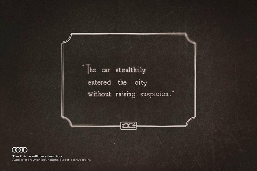 El cine mudo nos muestra cómo serán los Audi eléctricos